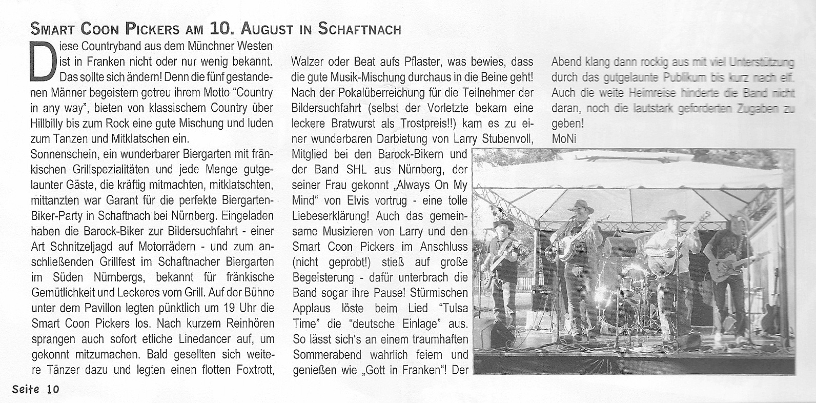 Hier der Text im WHEEL Country Music Magazin